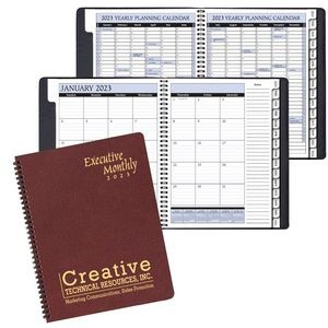 Executive Monthly Planner w/ Leatherette Cover
